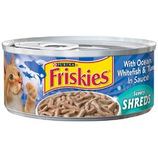 Savory Shreds Ocean Whitefish and Tuna Wet Cat Food (5.5-oz can, case of 24)