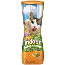 Crunchy Indoor with Chicken Flavor Cat Treats (4-oz. canister, case of 10)