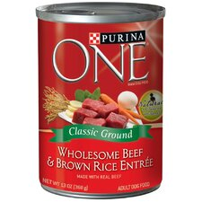 Wholesome Beef / Brown Rice Dog Food (13-oz, case of 12)