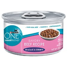 Smartblend Braised Cuts Beef in Gravy Wet Cat Food (3-oz, case of 24)