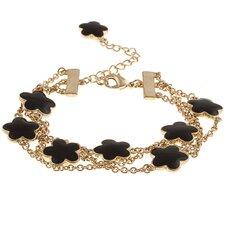 Goldtone Enamel Three Strand Bracelet