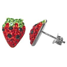 Crystal Strawberry Earrings