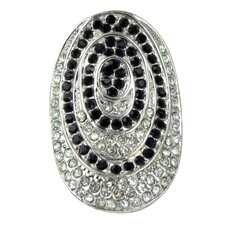 <strong>Trendbox Jewelry</strong> Crystal Pave Circle Ring