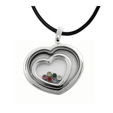 Captive Heart and Cubic Zirconia Necklace