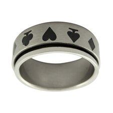 Card Suit Spinner Band Ring
