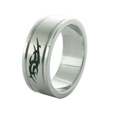 Etched Tribal Ring (Set of 2)