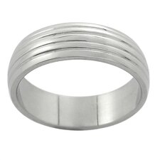 Grooved Band Ring