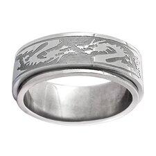Tribal Dragon Spinner Band Ring