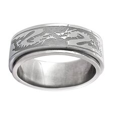 Tribal Dragon Spinner Band Ring