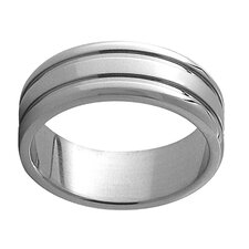 <strong>Trendbox Jewelry</strong> Wide Band Ring with Lined Edge