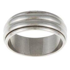 Ribbed Spinner Band Ring