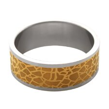 Two-tone Nature Print Band Ring