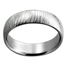 Etched Zebra Stripe Band Ring