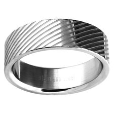 Men's Lined Wedding Band Ring