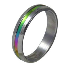 Rainbow Stripe Band Ring