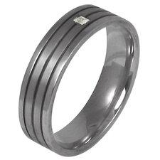 Men's Cubic Zirconia Wedding Band Ring