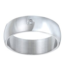 <strong>Trendbox Jewelry</strong> Cubic Zirconia Swirl Band Ring