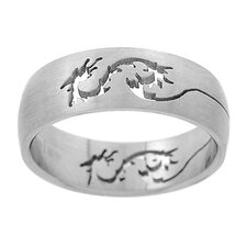 Band with Cut-Out Dragon Design Band Ring