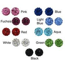 Crystal Studded Ball Earrings