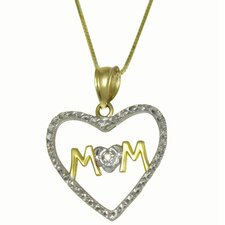 Diamond Cut Mom Pendant