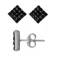 Crystal Square Stud Earrings