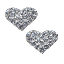 Crystal Studded Heart Earrings