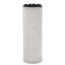 "0.25"" Drive 6 Point Deep Socket"