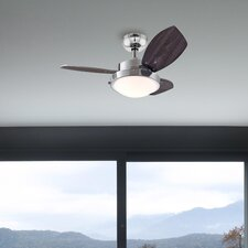 "Deckenventilator ""Wengue"" in Chrom"