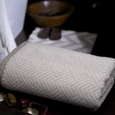 Arrow Combed Cotton Hand Towel in Natural