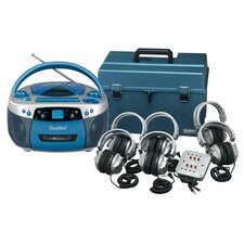 Deluxe USB, MP3, CD, Cassette Listening Center with 6 Station