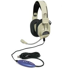 Deluxe USB Headset with Gooseneck Microphone