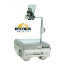 Portable Open Head Double Lens Overhead Projector (3000 lumens) with Fold Down Arm and Lamp Changer