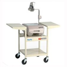 Height-Adjustable Steel Projector Cart