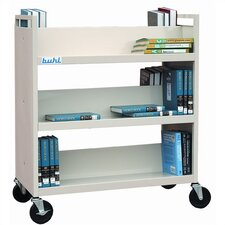 <strong>Buhl</strong> Steel Book Truck (With 6 Shelves)