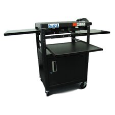 <strong>Buhl</strong> Height Adjustable AV Media with Security Cabinet - Three Stationary Shelves / Laptop Shelf