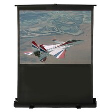 "Matte White 80"" Diagonal Portable Projection Screen"