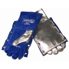 Split Cowhide Aluminized Back Pad for Welding Gloves - 4200bp back pad