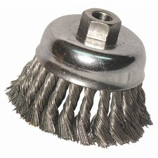 "Knot Cup Brushes - 3"" knot cup 2-3/4""x.012 5/8-11 pop"
