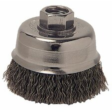 "Crimped Wheel Brushes - 6 x 1 .014 crimpcrs 6"" x 1 x.014 5/8-1/2"