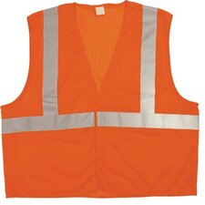 "Bi-V240 Mesh Class 2 Vests Cls 2 Ansi Mesh W/2"" Glass Bead Tape Orng L/Xl: 101-75215 - cls 2 ansi mesh w/2"" glass bead tape hi vis l/xl"