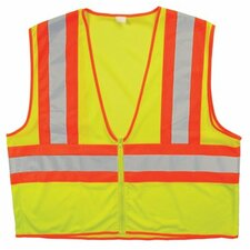 Bi-V320 Class-2 Two Tone Vests Cls 2 Lime Mesh 2 Tonegls Bead Tape Lm L/Xl: 101-75525 - cls 2 lime mesh 2 tonegls bead t hi vis l/xl