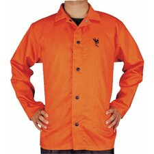 "Premium Flame Retardant Jackets - 30"" 9 oz orange fr jacket-large"