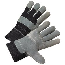 2000 Series Leather Palm Gloves - 3286 leather lined palm denim back 2 1/2""
