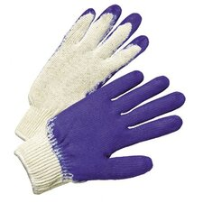 Latex Coated Gloves - economy knit glove blue latex coated