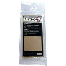 <strong>Anchor</strong> Gold Coated Polycarbonate Filter Plates - 2x4-1/4 #10 gc poly filter plate