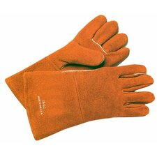 1 Pair Russet Split Cowhide Welding Gloves with Two Piece Back - 18gc glove
