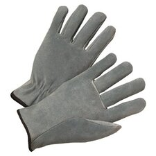 4000 Series Cowhide Leather Driver Gloves - 980s leather drivers glove pearl gray