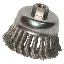 "<strong>Anchor</strong> Knot Cup Brushes - 2-3/4"" knot cup brush .0144 ss 5/8-11 ret"