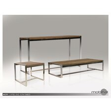 Motif Reclaimed Elm Wood Coffee Table Set