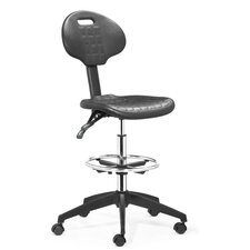 Height Adjustable Drafters Office Chair with Footring
